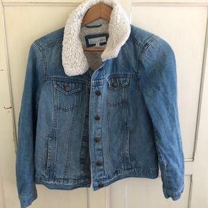 Loft denim lined jacket